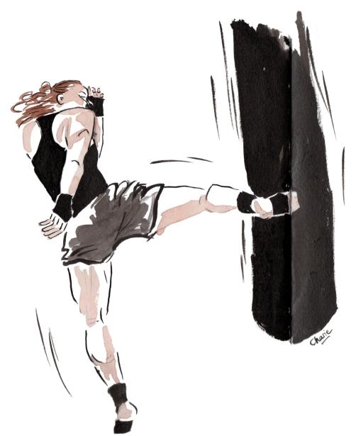 Kickboxeuse